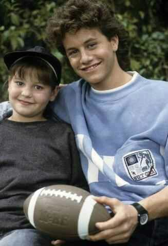 Candace Cameron and brother Kirk Cameron  on a Full House episode together in the 1st season.