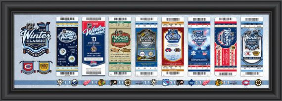 2016 NHL Winter Classic Tickets to History Framed Print - Canadiens vs Bruins