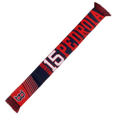 Dustin Pedroia Boston Red Sox Player Scarf - Red/Navy Blue