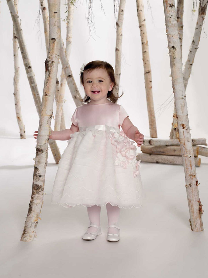 Straps natural waist tulle dress for flower girl