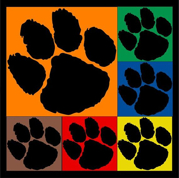 SVG Paw Print Animal Bear Lion Tiger Footprint by SHAREnShareALIKE