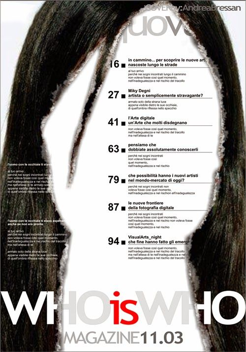 Who is Who Magazine - magazine cover - #concept #layout #graphicdesign by Andrea Bressan