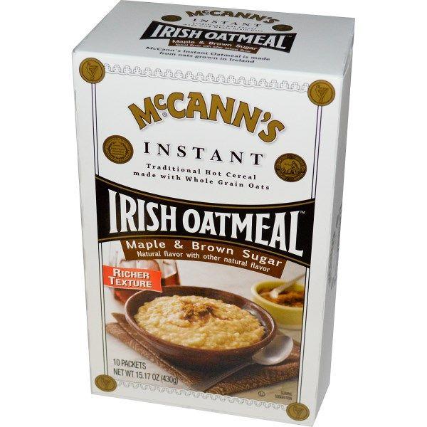 McCann's Irish Oatmeal, Instant Oatmeal, Maple