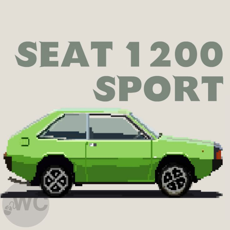 Here is a Seat 1200 Sport poster design I made for potentially a regular Seat Saturday. Other ideas that came to mind for a Saturday blog post were Saturn Saturdays, Skoda Saturdays and Saab Saturdays.