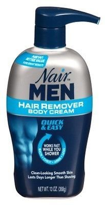 Hair Removal Creams and Sprays: (3 Pack) Nair Hair Remover Men Body Cream 13Oz Pump BUY IT NOW ONLY: $37.92