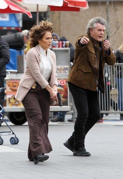 Jennifer Lopez Photos Photos - Actors Jennifer Lopez and Ray Liotta are spotted filming an action scene for the TV show 'Shades Of Blue' at Union Square Park in New York City, New York on October 25, 2016. - Jennifer Lopez Films 'Shades Of Blue' In NYC