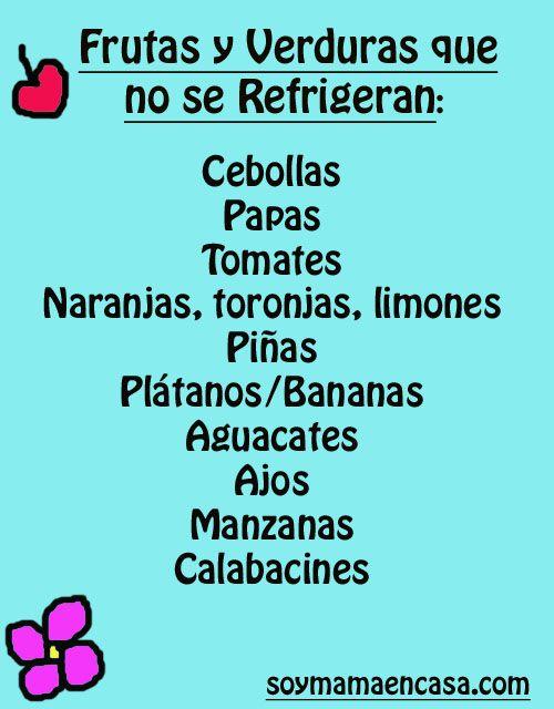 Frutas y verduras que no debes poner en el refrigerador para conservarlas en casa