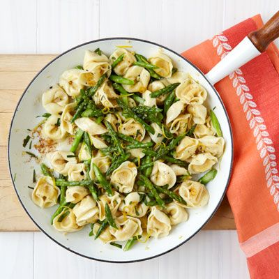 Brown Butter Tortellini with Toasted Garlic and Asparagus Recipe - Womans Day