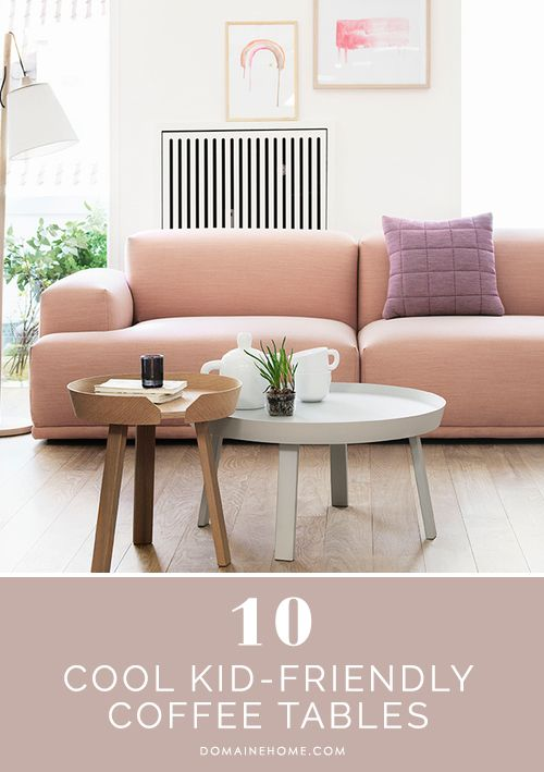 10 Cool Kid-Friendly Coffee Tables // living room, coffee table storage
