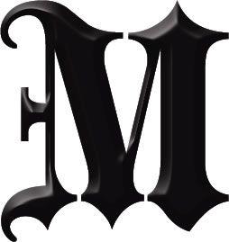 M Dr Odd Letter Work M Lettering Monogram Letters Alphabet
