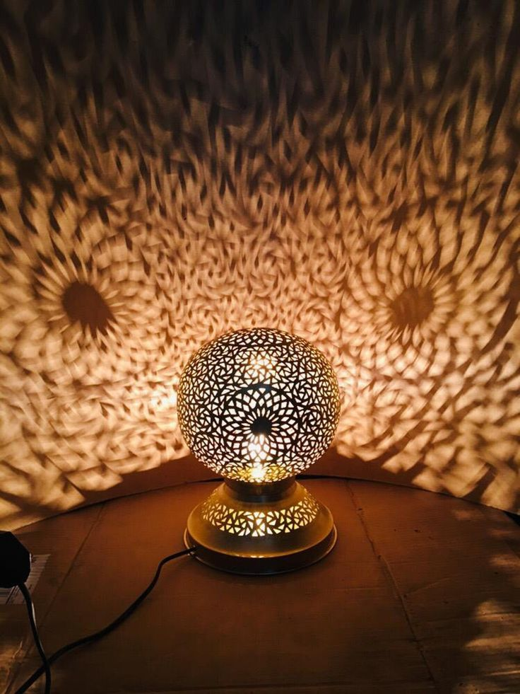 Moroccan Lamp , standing copper lamp , wedding light style