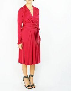 ISSA - classic silk dress - shop