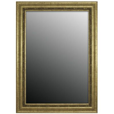 """Second Look Mirrors Andelusian Rose Silver Classic Wall Mirror Size: 47"""" H x 37"""" W"""