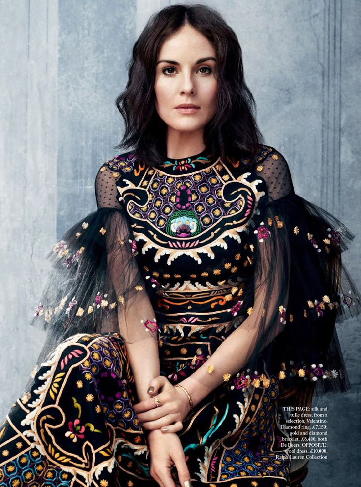 | | { Print & Pattern Bazaar - Stellar Florals* Series 11: 5/15 | Michelle Dockery for Harper's Bazaar UK October 2015