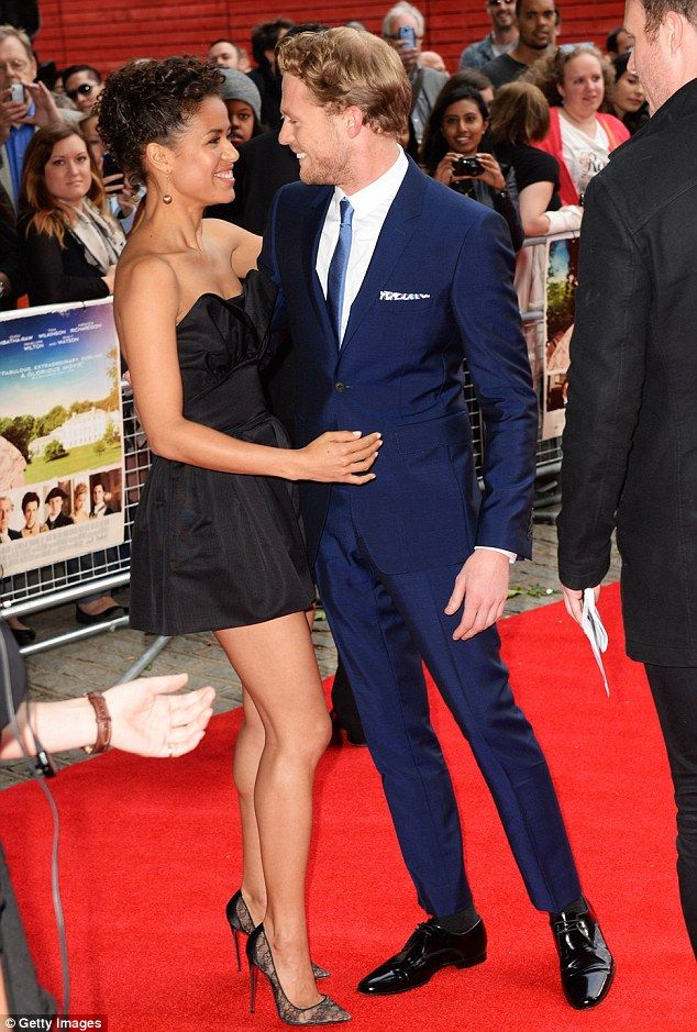 Nice to see you: Sam Reid joined his gorgeous co-star Gugu Mbatha-Raw on the red carpet