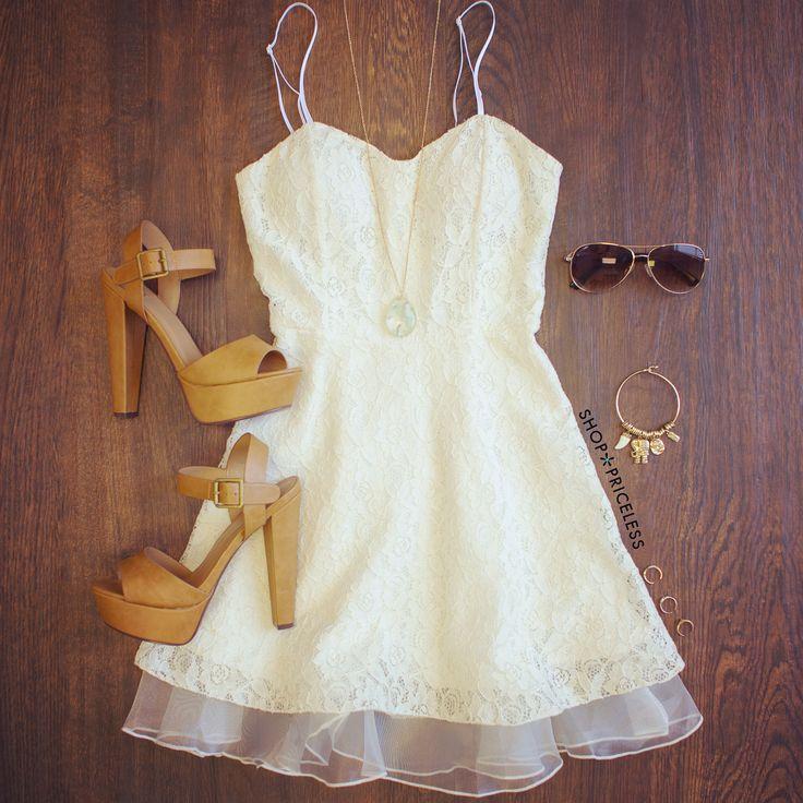 Sia Lace Dress - Ivory