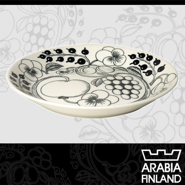 Arabia (アラビア) ブラックパラティッシ 21cm プレート 北欧食器