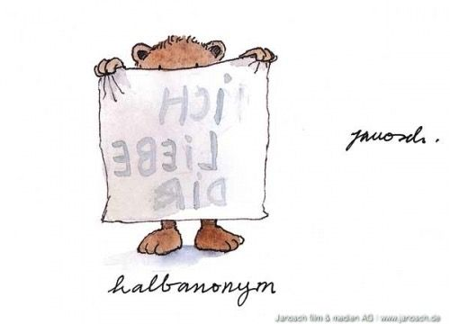 Ich liebe Dir ... halbanonym - #Liebe, #Postkarte, #Janosch
