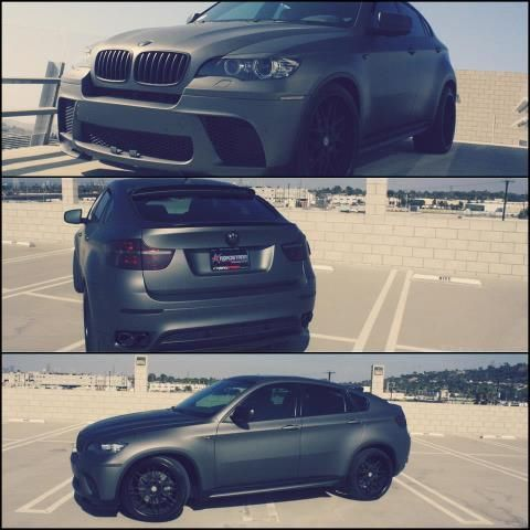 Matte Gray BMW Truck with black rims