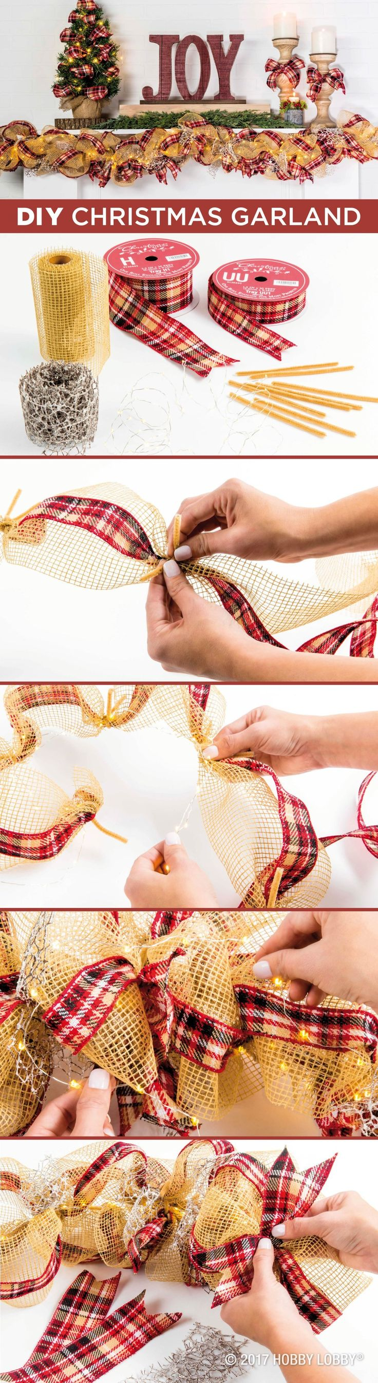 Add a little handmade goodness to your holidays with a DIY Christmas garland.