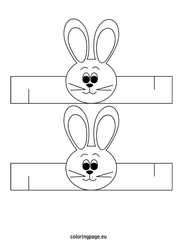 Easter Bunny Napkin Ring Template