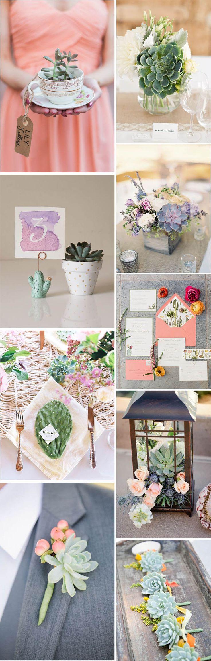Mood Board Wedding Succulent Plants Decoration // Wedding cactus Decoration // Ecofriendly Wedding #succulents #ecofriendly