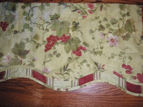 Fruit and Flowers Waverly Curtain Valance by bizarrebaubles, $25.00