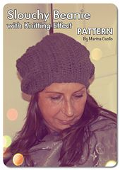 Ravelry: Slouchy Beanie with Knitting Effect pattern by Marina Cuollo