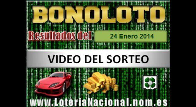 Loteria Nacional presenta Bonoloto sorteo Viernes 24 de Enero de 2014. Creditos: www.loterianacional.nom.es