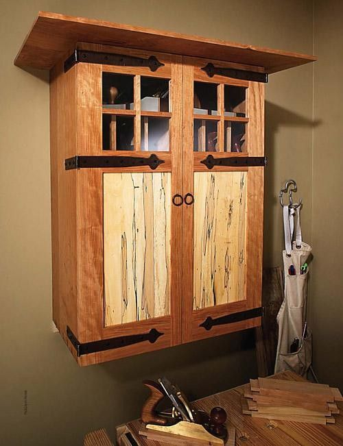 Arts & Crafts Tool Cabinet Large-Scale Plans | Tool cabinets, Craft and Woodworking