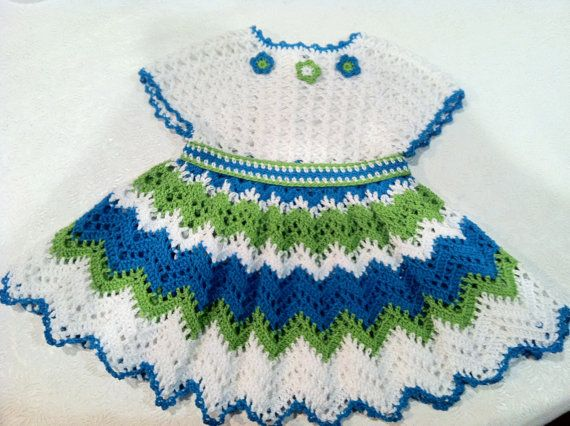 Flamenco Dress for Baby Girl Crochet Pattern by ThePatternParadise, $6.99