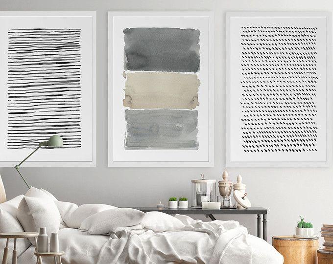 Grande arte astratta, arte astratta, pittura acquerello astratto, Extra-Large Print, arte muro insieme, grigio, grande stampa astratta, astratta opera d'arte
