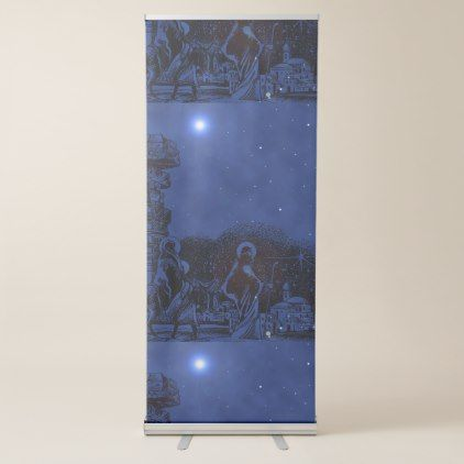 Starry Night Nativity Retractable Banner - decor gifts diy home & living cyo giftidea