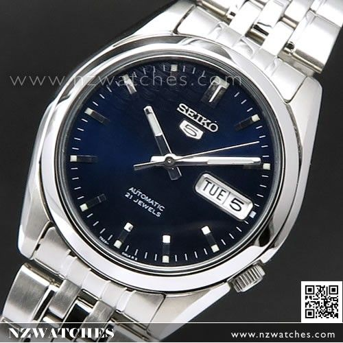 SEIKO 5 Automatic Dark Blue Logo Background Mens Watch SNK357K1 17a26c8e36