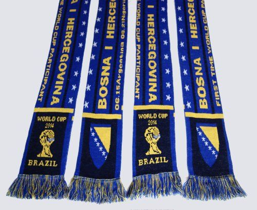 Bosnia and Herzegovina 2014 World Cup Acrylic Knitted Scarf on http://jersey2014.kerdeal.com/bosnia-and-herzegovina-2014-world-cup-acrylic-knitted-scarf