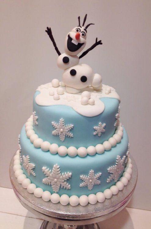 'Olaf' Frozen stapeltaart