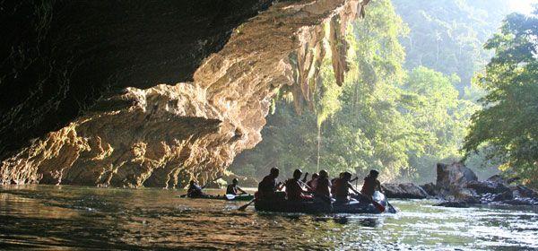Bóveda de mármol y rafting