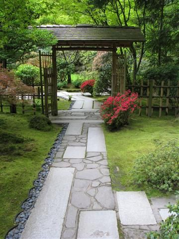 Beautiful Japanese garden path in Portland's Japanese Garden. I love the stonework! Photo by Taryn Koerker