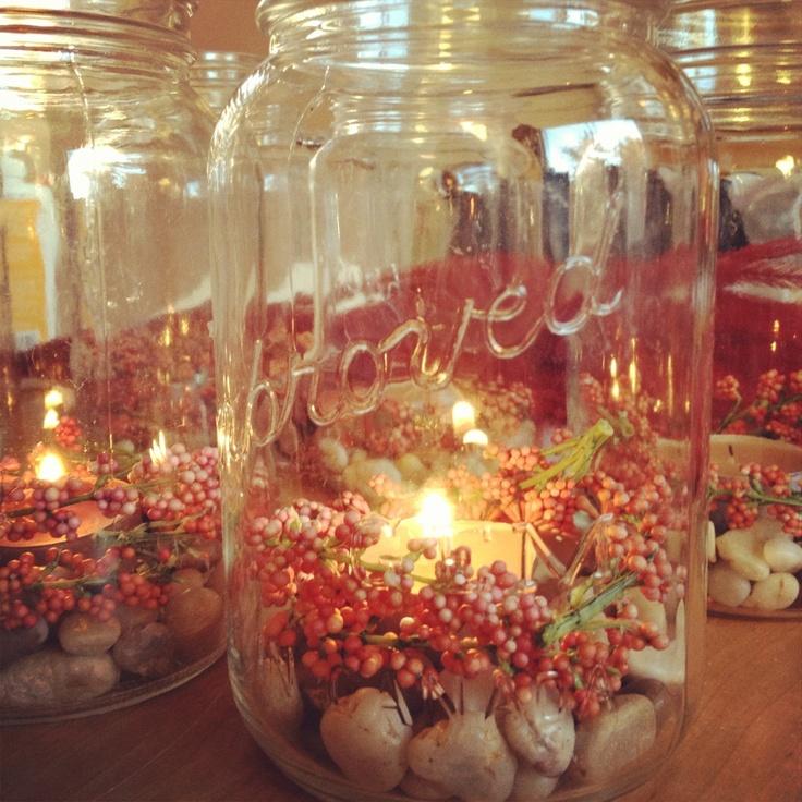 Fall centerpieces mason jars masons