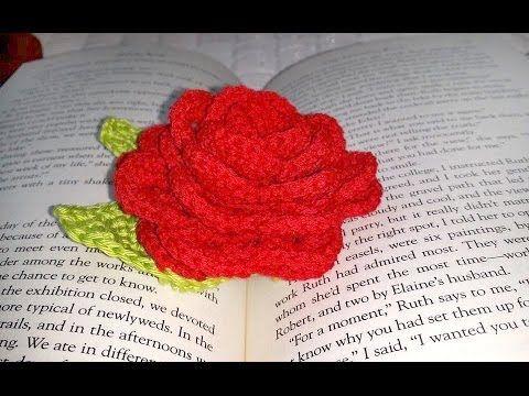 Glama's Sweet Rose Book Mark Tutorial