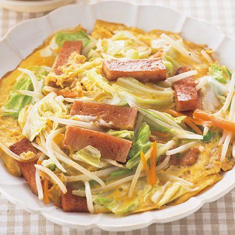 ランチョンミートと野菜の卵とじ   ヤミーさんの炒めものの料理レシピ   プロの簡単料理レシピはレタスクラブニュース