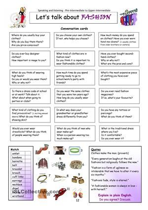 This worksheet contains 18 conversation cards, a quotes box and a matching exercise with pictures. The cards can be cut out if desired and be used as conversation questions. Can be used with both young learners and adults (pre-int to upper-intermediate).  - ESL worksheets