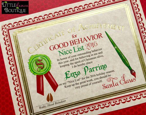 The 25 best santas nice list ideas on pinterest nice list santas nice list certificate santa by littlebeaneboutique on etsy spiritdancerdesigns Gallery