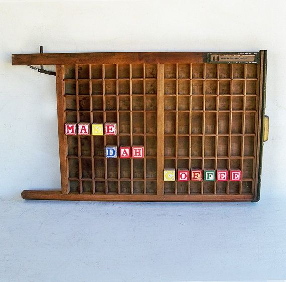 Letterpress Tray Coffee Table: 74 Best Industrial Upcycle Images On Pinterest