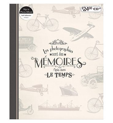 #Anker Travel Memories Self Adhesive Photo Album #96 Advantage card points. This 7x5 self adhesive photo album contains 25 sheets to display your photos. It features an antique French design, perfect for storing your memories. FREE Delivery on orders over 45 GBP. (Barcode EAN=5012128386237)