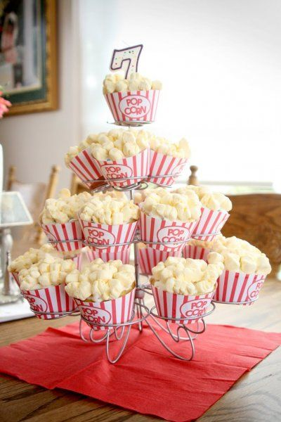 A movie birthday theme offers a lot of flexibility in terms of activities. You could play dress up games, actually make mini-movies, or even play charades.