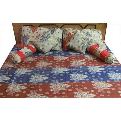 7 Pcs Designer Floral Queen Bedspread Bedding Bedcover India