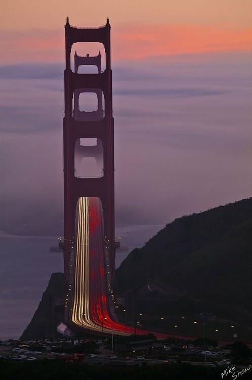 Golden Gate Bridge, California | Mike Shaw. Beautiful shot of the bridge
