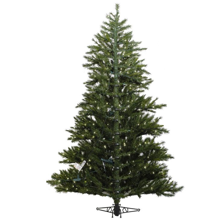 Minnesota Pine Westbrook 6.5' Green Artificial Half Christmas Tree with 400 Clear Lights with Stand