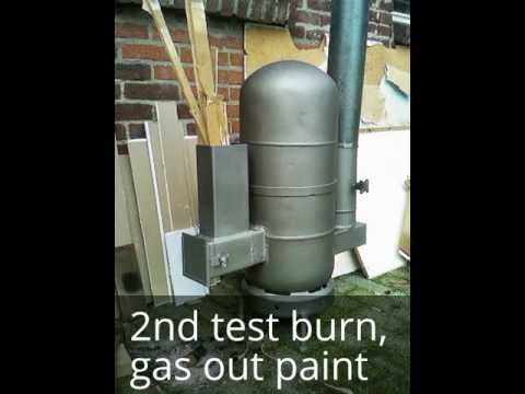 How to make a Rocket Heater out of two gas bottles - YouTube